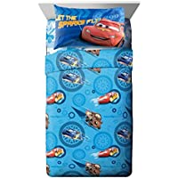 [ディズニー]Disney 4pc Cars Full Bed Sheet Set Lightning McQueen City Limits Bedding Accessories 22042WM [並行輸入品]
