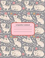 Composition Notebook: Nifty Wide Ruled Paper Notebook Journal | Cute Tropical Cat Wide Blank Lined Workbook for Teens Kids Students Girls for Home School College for Writing Notes.