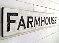 """Large Farmhouse Sign 48""""x10"""" Carved Horizontal-Cypress Lumber Rustic Wood Distressed Shabby Style Decor [並行輸入品]"""