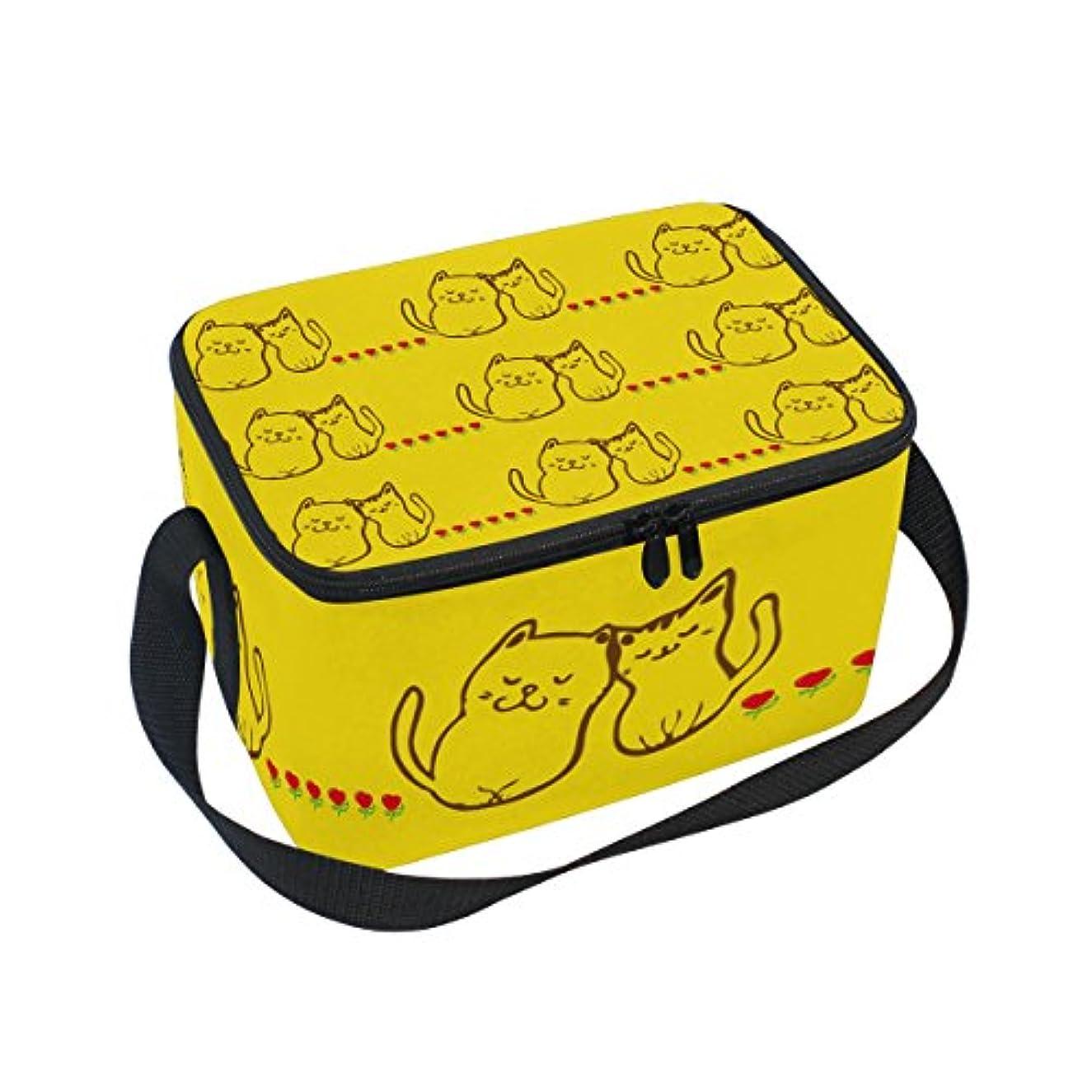未払い余剰免除するクーラーバッグ クーラーボックス ソフトクーラ 冷蔵ボックス キャンプ用品  猫柄 金色 保冷保温 大容量 肩掛け お花見 アウトドア