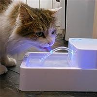 Tiangtech® 犬と猫自動給水器 ペット用自動給水器 猫 犬 ドリンクウェル ペットファウンテン スタンダード LED 1.8L l 水ディスペンサー犬と猫
