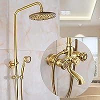 バスルームシャワー蛇口セット - バスルームデラックスレインシャワーセット、インウォールレインシャワー、リフティングシャワー、クリーンで簡単に設置