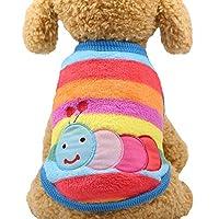 WYYI ペットの猫コスチュームチワワ衣装冬暖かいペット服コート用小型犬の服のための犬服のためのフリースの服 (色 : Color 9, サイズ : S)
