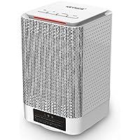 KEYNICE ファンヒーター 足元ヒーター セラミックヒーター 首振り 暖房器具 省エネ 小型 温風&熱風 速暖 2段階切替式 110V AC給電