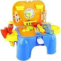 クリエイティブ子供ごっこ遊びおもちゃCarpenterツールPlayset Stool