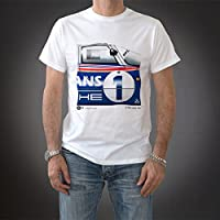 Original Race(オリジナル レース) ポルシェ 956 Tシャツ PTU-LeMans 1982-B 半袖 メンズ 1982年 ル・マン24時間レース レーシングカー ホワイト Lサイズ