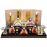 雛人形 久月 ひな人形 雛 木目込人形飾り 段飾り 五人飾り 真多呂作 天永雛 h313-k-99849 K-97