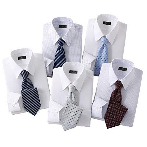 (フランコ コレツィオーニ)Franco Collezioni 銀座・丸の内のOL100人が選んだワイシャツ&ネクタイセット 50405-6-10644 50405-6-10644 ホワイト系 L