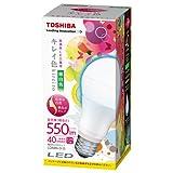 東芝 E-CORE(イー・コア) LED電球  一般電球形 8.8W(高演色タイプ・密閉形器具対応・白熱電球40W相当・550 ルーメン・昼白色) LDA9N-D-G 口金直径26mm