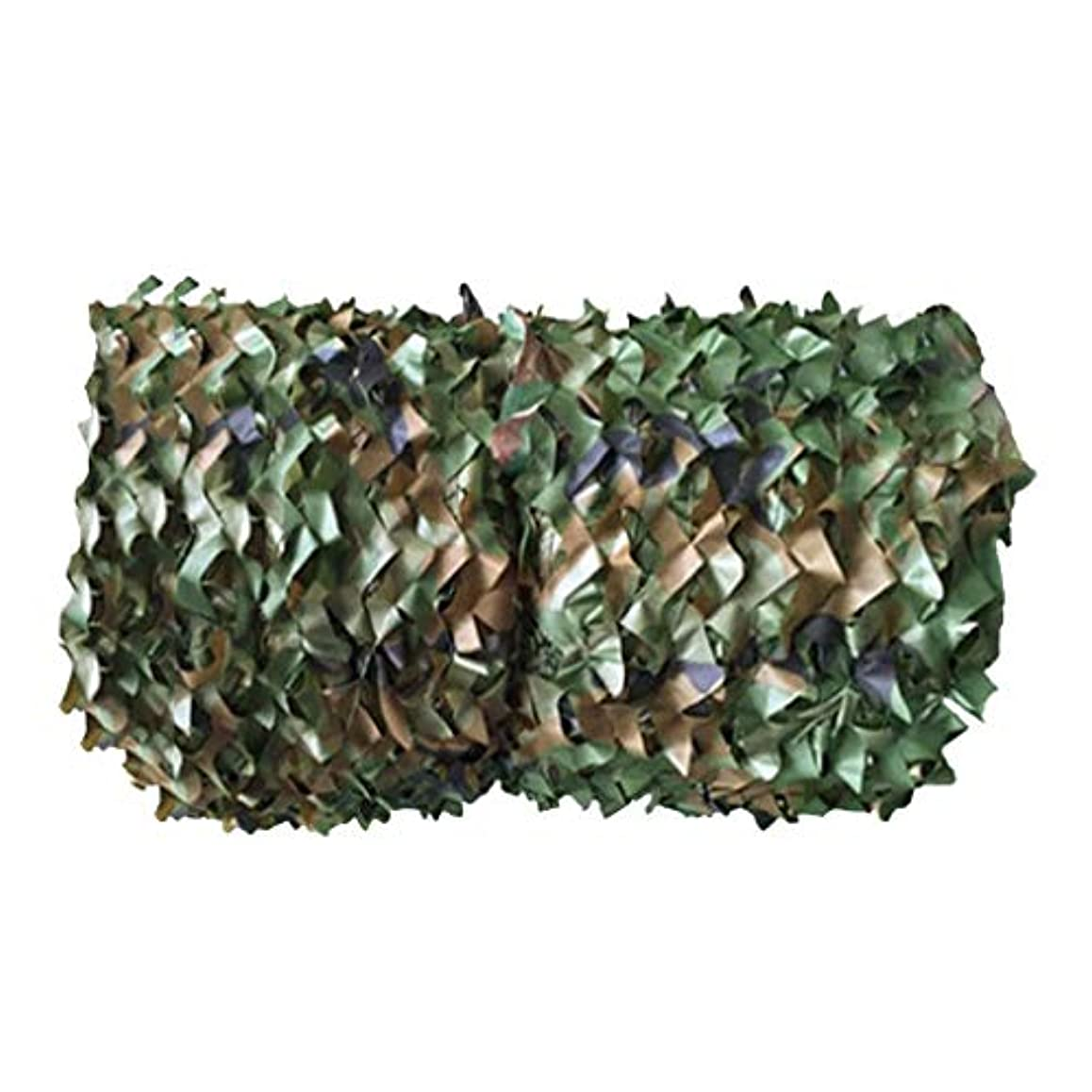 感度金属地中海YANFEI camouflage net 迷彩ネット、日焼け止めネットカーシェードネット戦術迷彩迷彩メッシュ屋外、ウッドランド、グリーン (Size : 3*5)