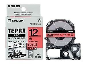 キングジム テープカートリッジ テプラPRO キレイにはがせるラベル 12mm 赤 SC12RE