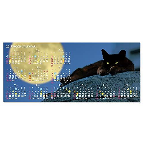 2019 ムーンカレンダーポストカード (月と猫) ムーングラフィックス FLAGS