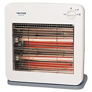 TEKNOS 薄型デザイン 温度2段階切替式 電気ストーブ ES-K710(W)