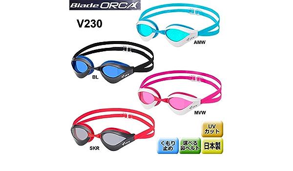 Kính bơi View V230 có 4 màu: Đỏ, đen, xanh biển, hồng.