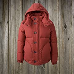Nigel Cabourn US Clip Down Jacket: Red