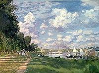 "Monet "" The Marina at Argenteuil」( 1872) Glossyポスター 26.5""x36"" p36bridgeman176"