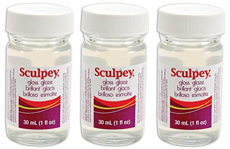 Polyform Sculpey Glaze、1-ounce、光沢(親) 3 Pack 43235-59218