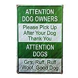 アウトドア DL-Outdoor Garden road poster DOG OWNERS WHOLESALE METAL NOVELTY PARKING SIGN