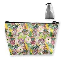 女性と花 化粧ポーチ メイクポーチ 機能的 大容量 化粧品収納 小物入れ 普段使い 出張 旅行 メイク ブラシ バッグ 化粧バッグ