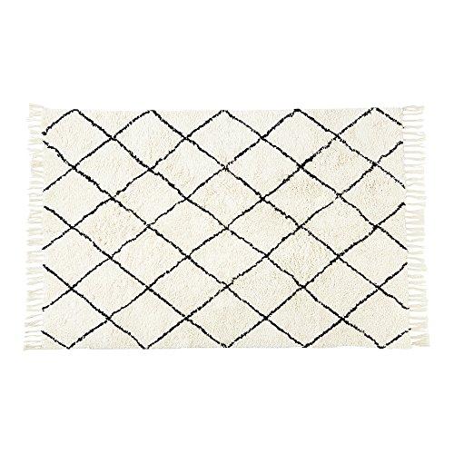 ラグマット Hermach - エルマシュ - ホワイト 幅140×奥行100cm FL-1824 インターフォルム(Interform) FL-1824