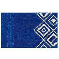 センコー M+ グラッシー バス・洗面マット ブルー 約50×80cm 22906