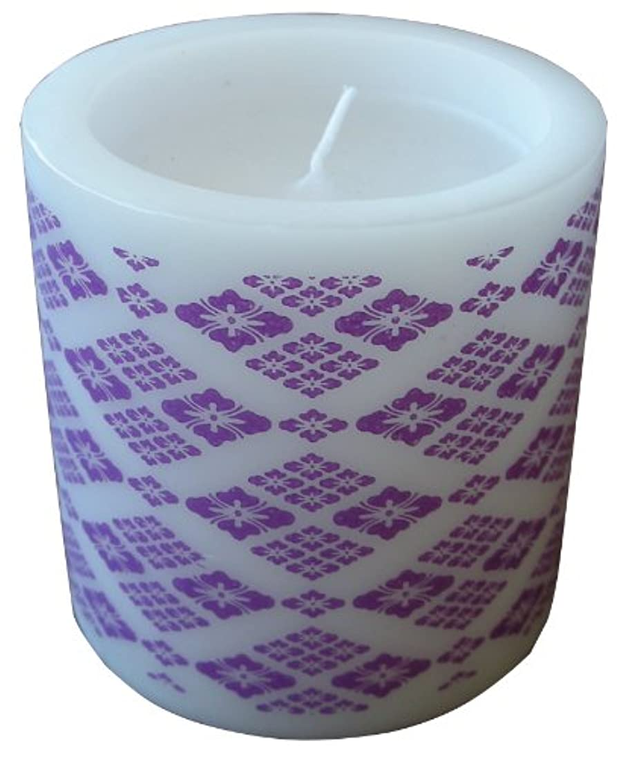 暖炉追放する胃マルエス 和みローソク 菱模様 紫