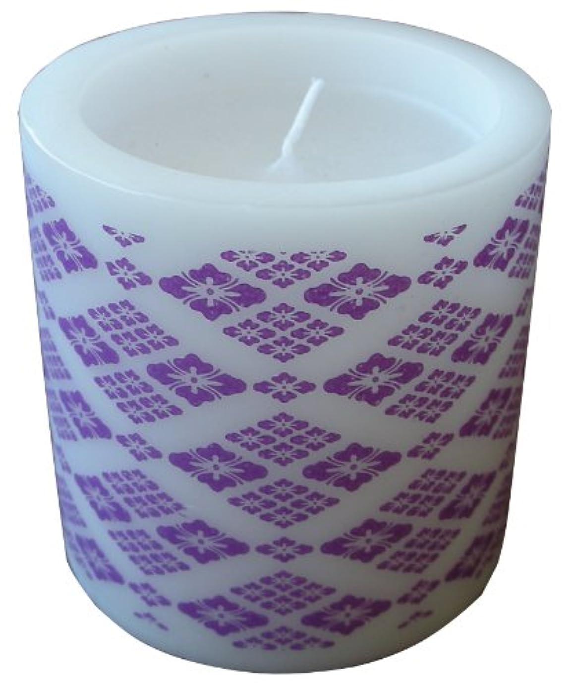 観点白菜ゲージマルエス 和みローソク 菱模様 紫