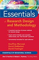 Essentials of Research Design and Methodoly (Essentials of Behavioral Science)