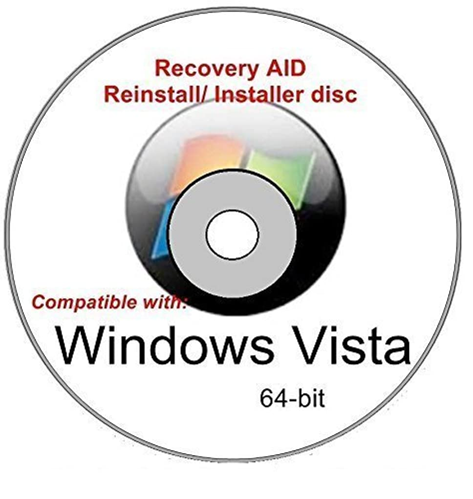 汚染されたトンネル相談するWindows Vista Home Premium 64-bit SP1 New Full Re install Operating System Boot Disc - Repair Restore Recover DVD