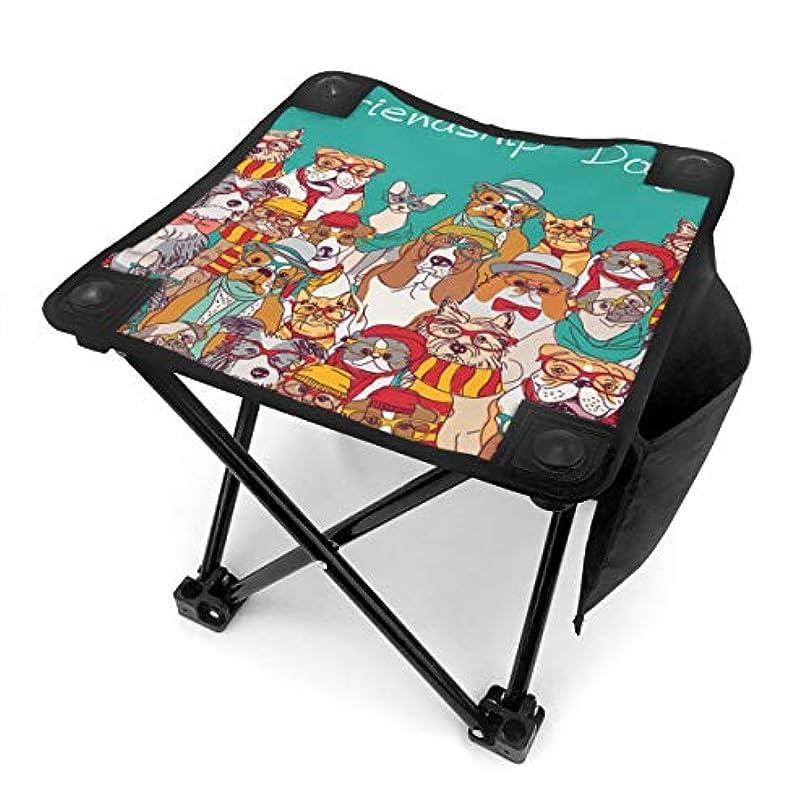プレゼン以来苦痛動物の犬 キャンプ用折りたたみスツール アウトドアチェア 折りたたみ コンパクト椅子 折りたたみスツール 小型スツール 収納袋付き 持ち運びが簡単 耐荷重100kg