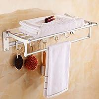 タオル棚スペースアルミ多目的棚タオルバー/バスルーム