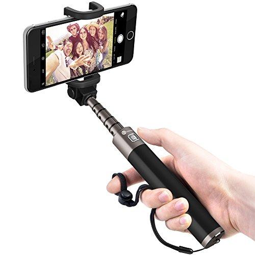 自撮り棒 TaoTronics セルフィースティック Bluetooth セルカ棒 シャッターボタン付き Android iPhoneスマートフォン対応 【高級版】 【一年間の安心保証】 TT-ST001