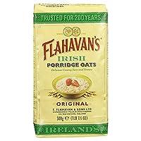Flahavan's Irish Porridge Oats 500g Cereal (Pack of 2) - アイリッシュお粥オート麦500グラムの穀物 x2 [並行輸入品]