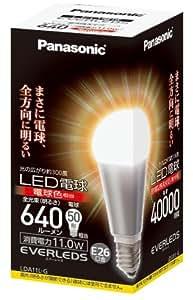パナソニック LED電球(E26・全光束640lm・電球50W形相当・消費電力11.0W・電球色相当)LDA11LG LDA11LG