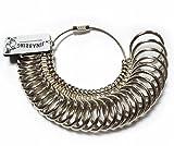 ジナブリング (JINA BRING) オリジナル 指輪ゲージ リングゲージ 1号から28号まで サイズ測定 指のサイズがこれ1個で測定可能 プロ仕様 サイズゲージ 指輪 サイズ 測定