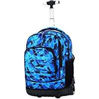 TONGSH Rolling Backpack Luggage School Travel Book Laptop 18 Inch Multifunction Wheeled Backpack Students (Color : B)