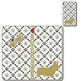 BASIO[KYV32] ☆ cronos カバー・ケース 手帳型 スマホケース au 動物 ペット 昆虫 犬 ドッグ 骨 肉球 格子 ウェルシュ・コーギー ピンク Qua Phone PX[LGV33]/Qua Phone[KYV37]/BASIO2[SHV34]/BASIO[KYV32]/DIGNO rafre[KYV36]/DIGNO[ISW11K(KYI11)]/DIGNO M[KYL22]/DIGNO S[KYL21]/G'zOne[IS11CA]/G'zOne TYPE-L[CAL21]/Fx0[LGL25] スマホカバー 印刷手帳 オリジナルデザイン スライド手帳タイプ 日本製