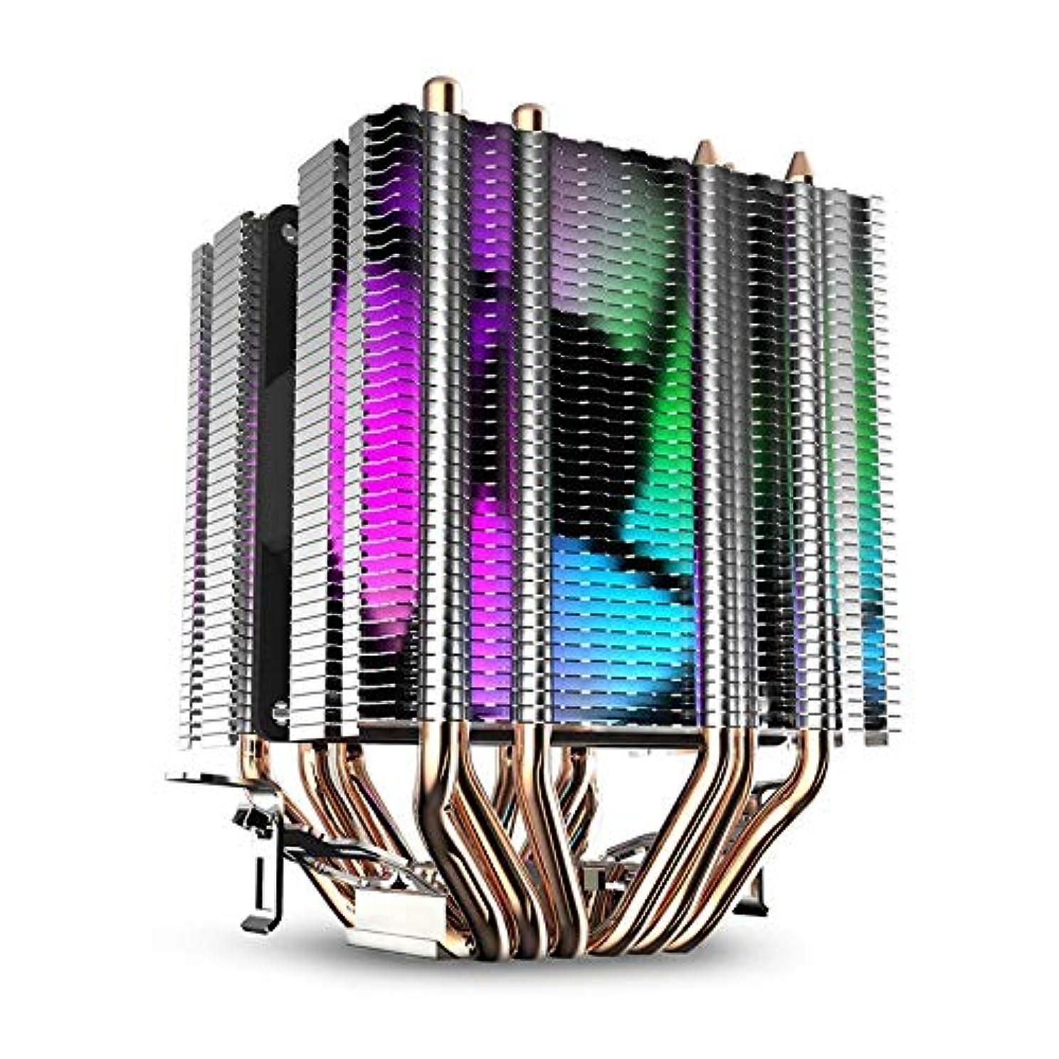 ずるい引き受ける仮定YANHUA Cpu Air Cooler 6 Heat Pipes Twin-Tower Heatsink With 90Mm Rainbow Led Fans For Intel 775/1150/1155/1156/1366