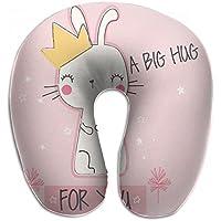 Merlin Quintina 抱擁 ウサギ クラウン 抱き枕 U字型クッション 首枕 ネッククッション 旅行ピロー360度快適な睡眠 子宮頸椎 保護 ポータブル