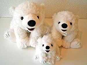 白クマのミルク ぬいぐるみ Mサイズ 座高34cm