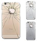 iPhone6 iPhone6S 対応 ハード クリア ケース 保護フィルム付 トリック ケース 割れたガラス