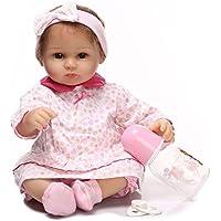 NPKDOLLシミュレーションRebornベビー人形ソフトSiliconeビニール18インチ45 cm Lifelike Vivid Toy Boy GirlピンクHeadwear Eyes Open