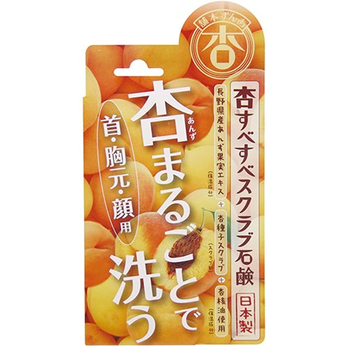 ガソリン分類するハチ杏すべすべスクラブ石鹸 100g