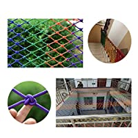 子供粉々に強いネット、階段バルコニー落下防止ネット、風光明媚なフェンスネット、カラーナイロンネット、インテリア装飾ネット、手すりネット(サイズ:2 * 3M) (Color : Thickness8mm, Size : 4*4m)