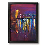 Zetena 船 埠頭 壁掛け式の装飾画 現代壁の絵 壁アート 木製スター 部屋飾り 客間絵画 インテリア絵画 リビング絵画 部屋飾り 壁絵 モダン インテリアアート