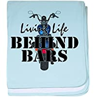 CafePress – Living Life Behind Bars – スーパーソフトベビー毛布、新生児おくるみ ブルー 064900603525CD2
