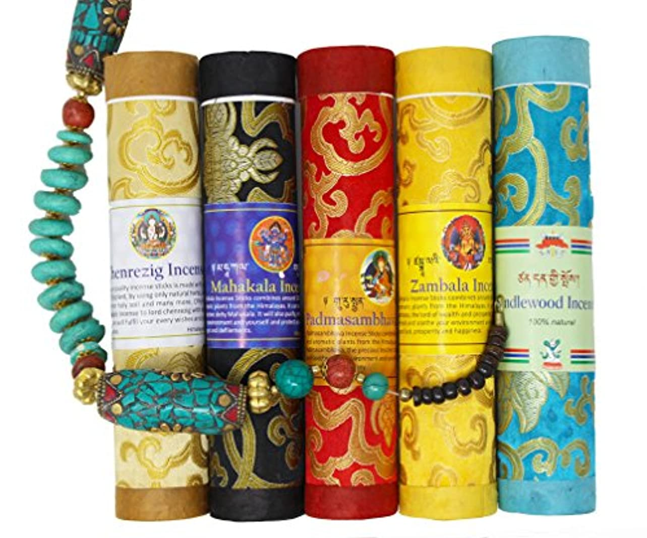 ブランド名時計変なjuccini Tibetan Incense Sticks ~ Spiritual Healing Hand Rolled Incense Made from Organic Himalayan Herbs