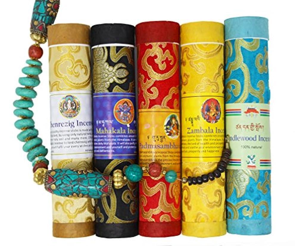 雨の下向きバラエティjuccini Tibetan Incense Sticks ~ Spiritual Healing Hand Rolled Incense Made from Organic Himalayan Herbs