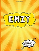 Emzy: Personalized Journal for Boys, Collection of Names/Initials Journals, XL 8.5x11 Primary Composition Notebook/Journal Pre-K - Grade 2, Kindergarten Journal