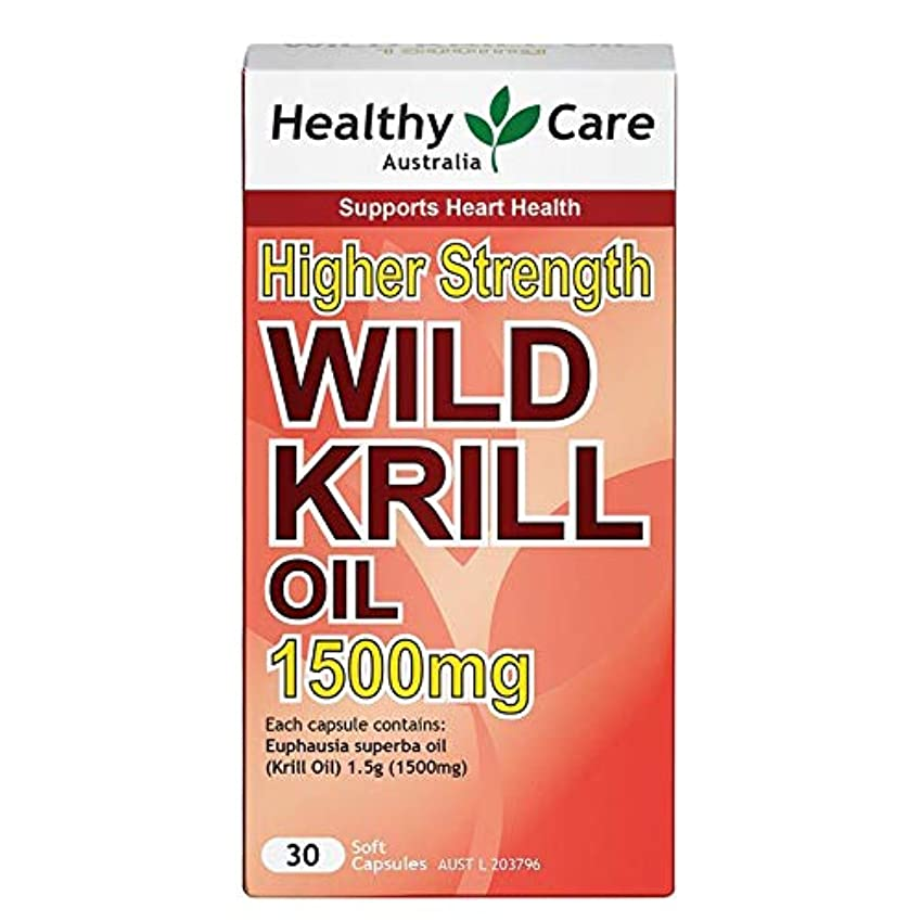 ハウス特権的足[Health Care]ワイルドオキアミオイル (30cap) Wild Krill Oil 1500mg [海外直送品]